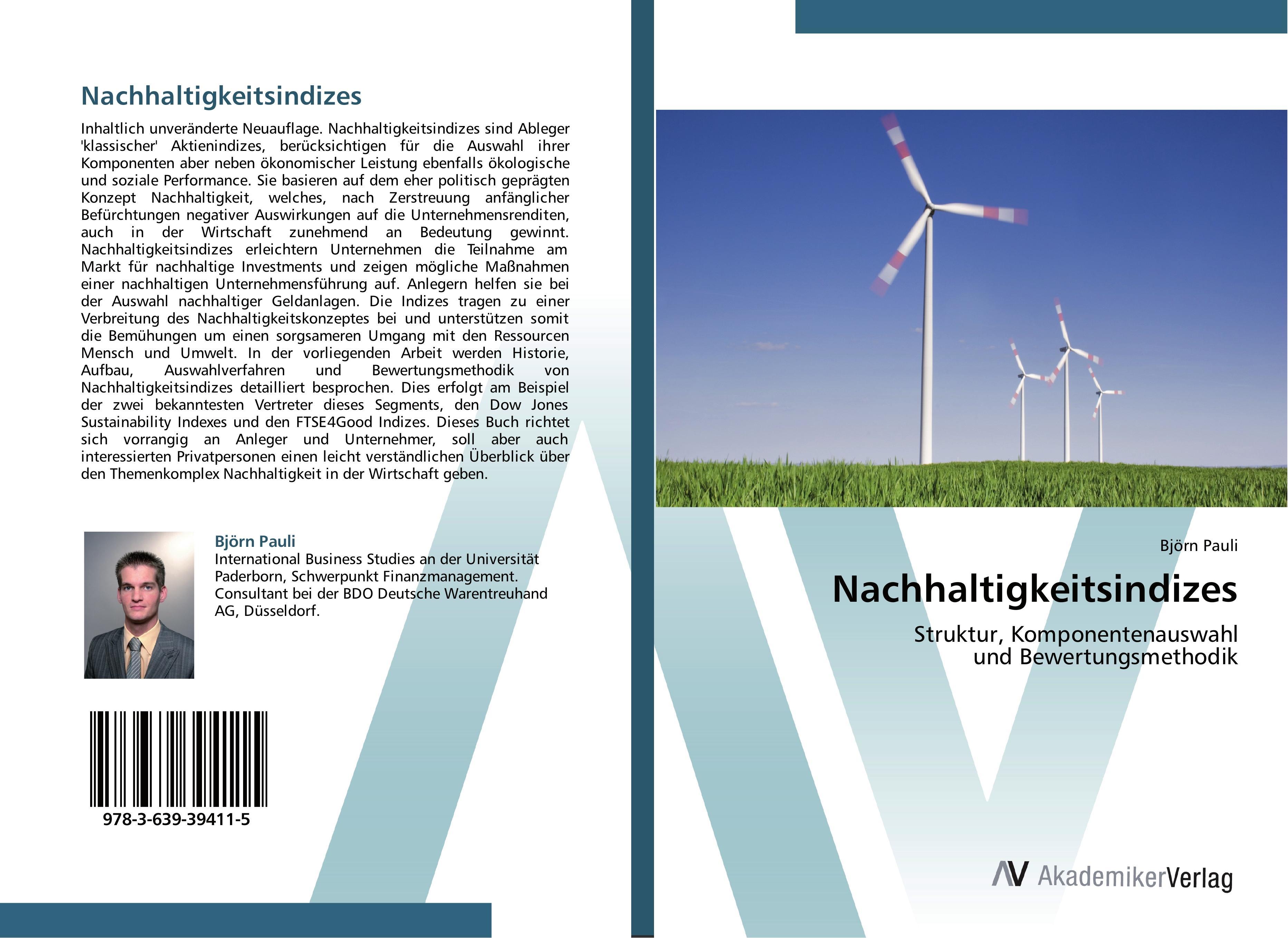Nachhaltigkeitsindizes  Struktur, Komponentenauswahl und Bewertungsmethodik  Björn Pauli  Taschenbuch  Paperback  Deutsch  2013 - Pauli, Björn