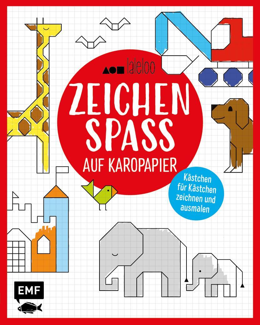 Malbücher für Kinder Zeichenspaß auf Karopapier Kästchen für Kästchen zeichnen und ausmalen Laleloo