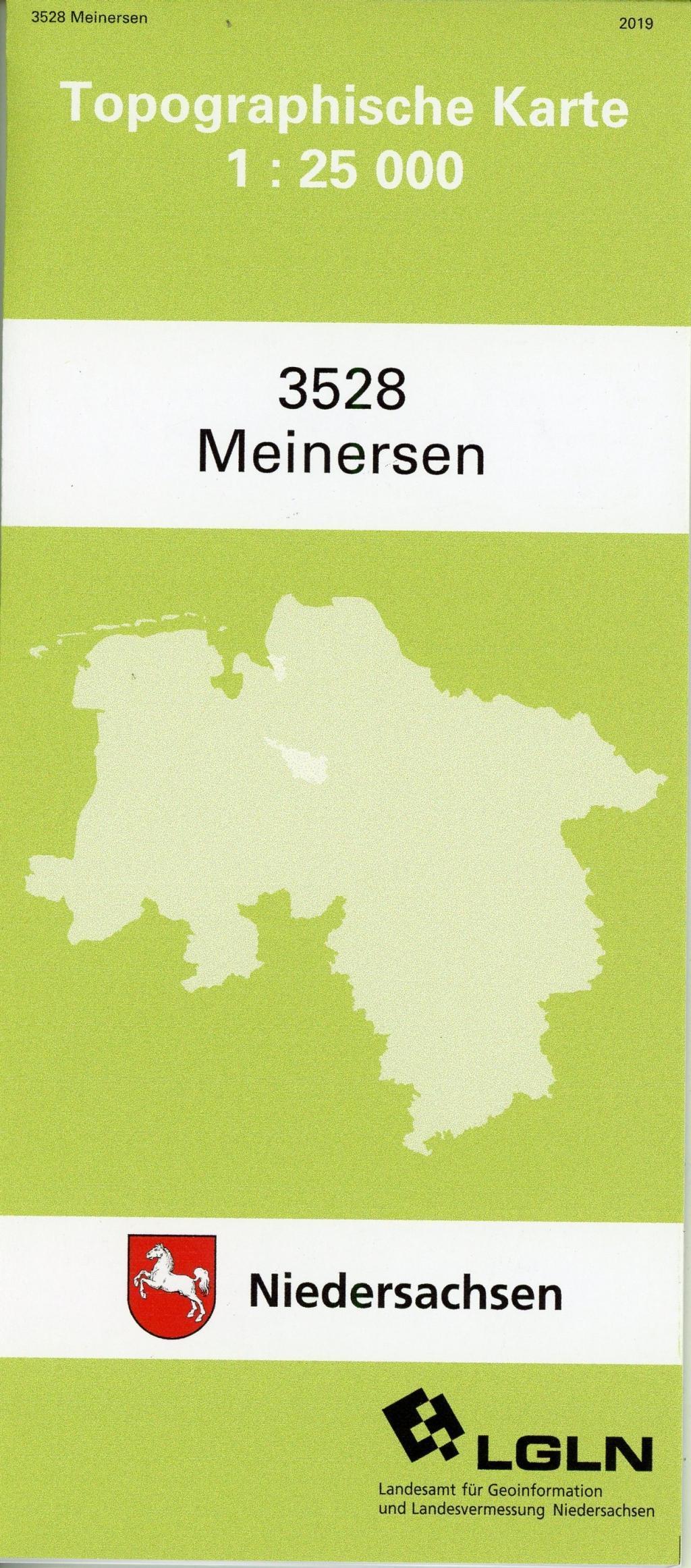 Meinersen 1 : 25 000. (TK 3528/N)  (Land-)Karte  Amtliche Karten Niedersachsen 1 : 25 000 Topographische Karten  Deutsch  2019