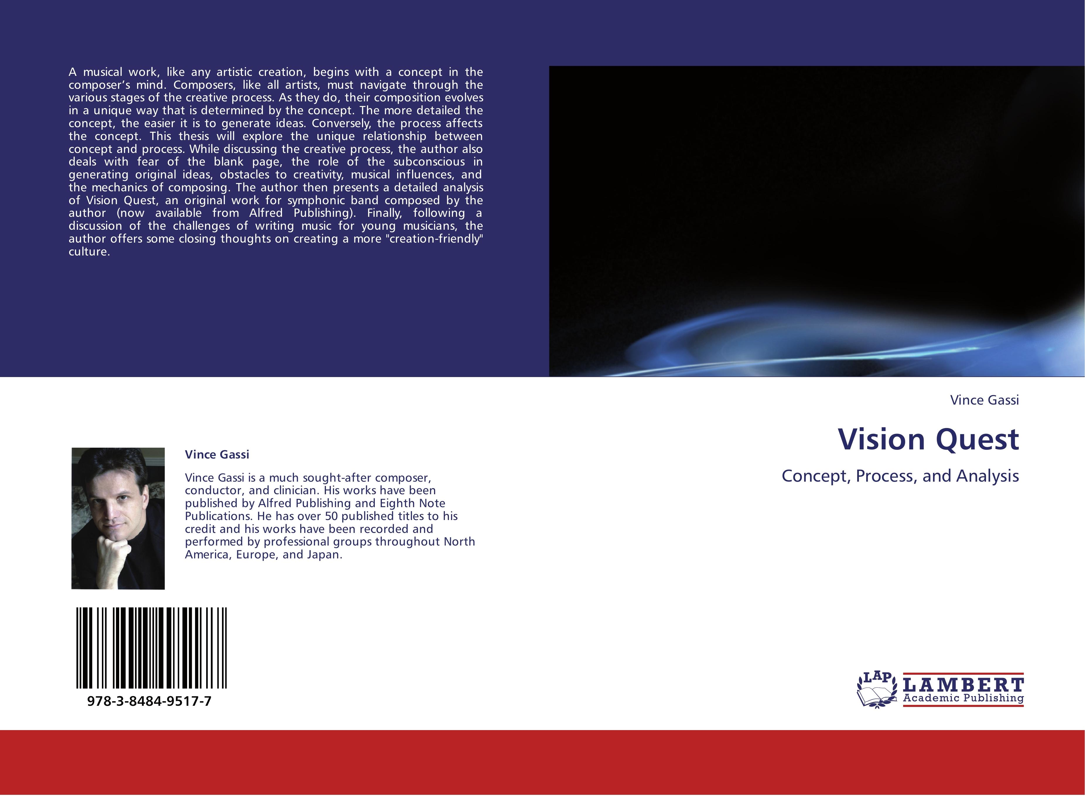 Vision Quest  Concept, Process, and Analysis  Vince Gassi  Taschenbuch  Paperback  Englisch  2012 - Gassi, Vince